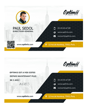 Min-Carte de visite marketing communication web idevart