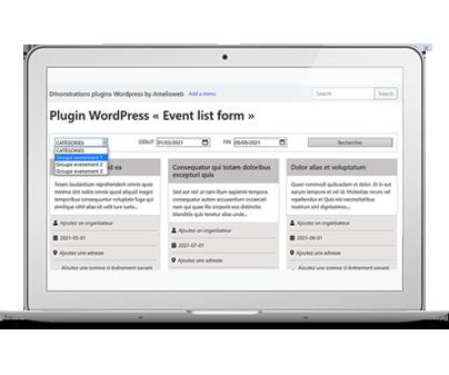 Réalisation: Simple plugin WordPress de recherche d'événements par date