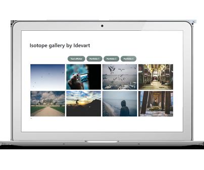 "Réalisation : Essayez le plug-in WordPress ""Isotope Galerie by Idevart"""