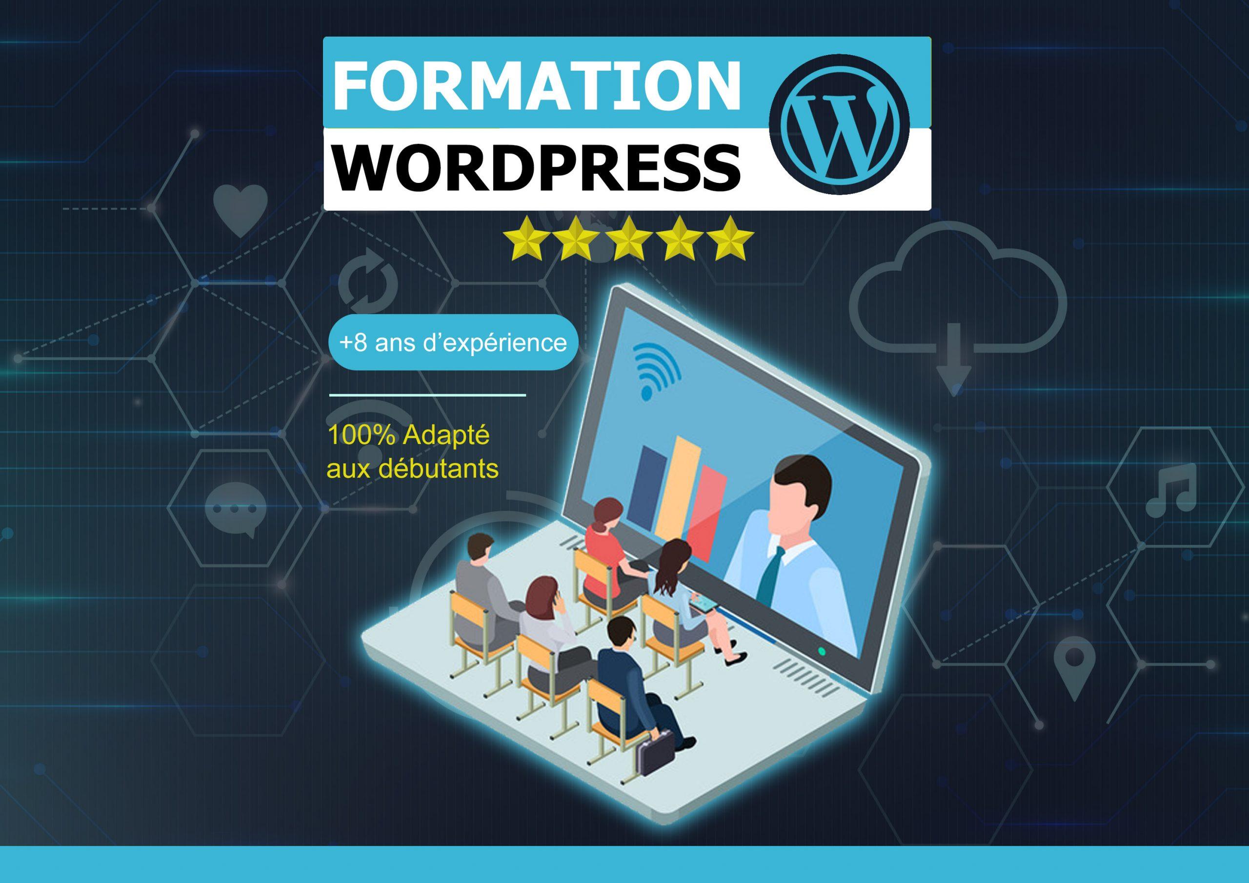Je vous forme à la prise en main de WordPress par visio-conférence