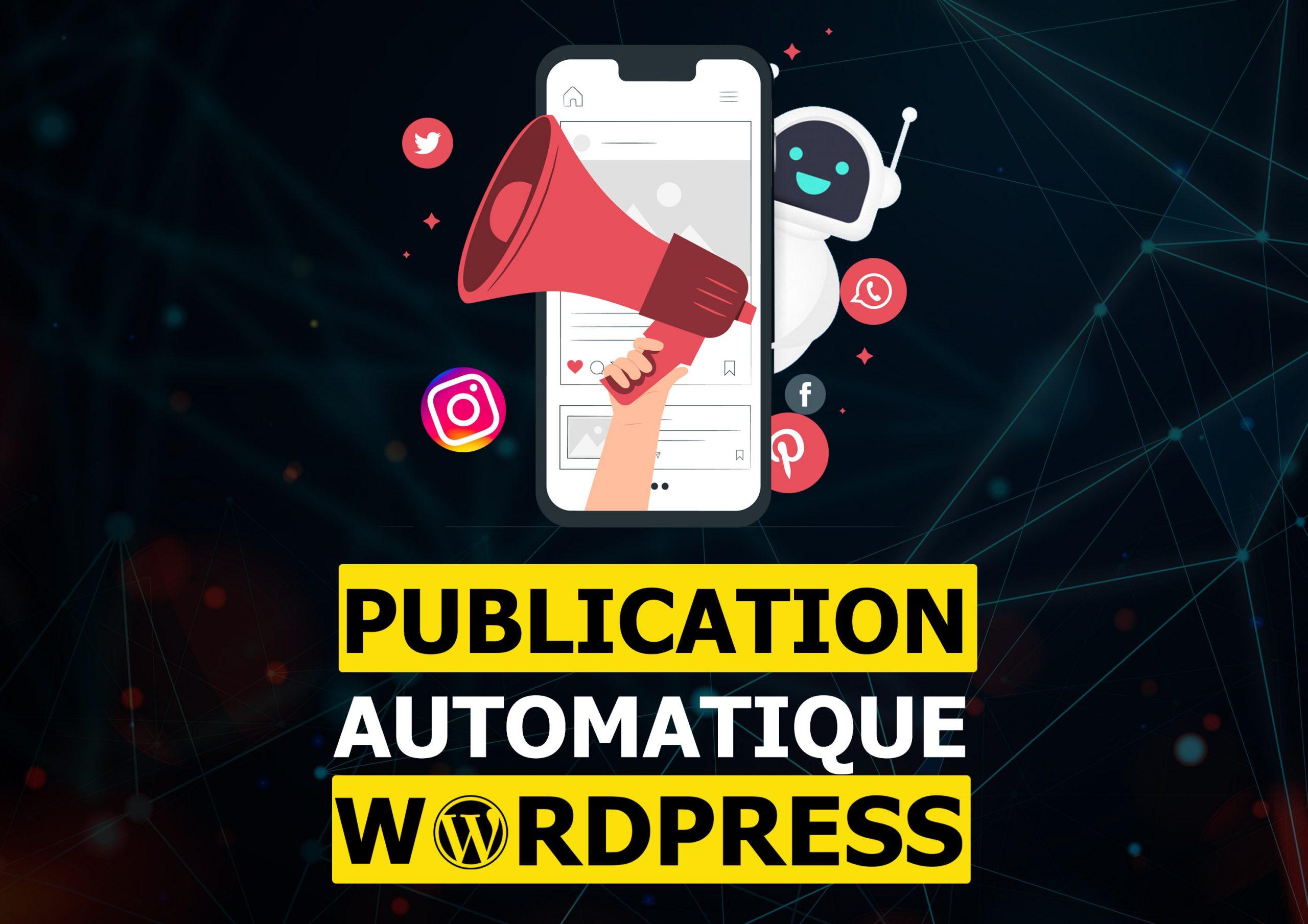 Publiez automatiquement vos articles et produits sur les réseaux sociaux à chaque publication via votre site web